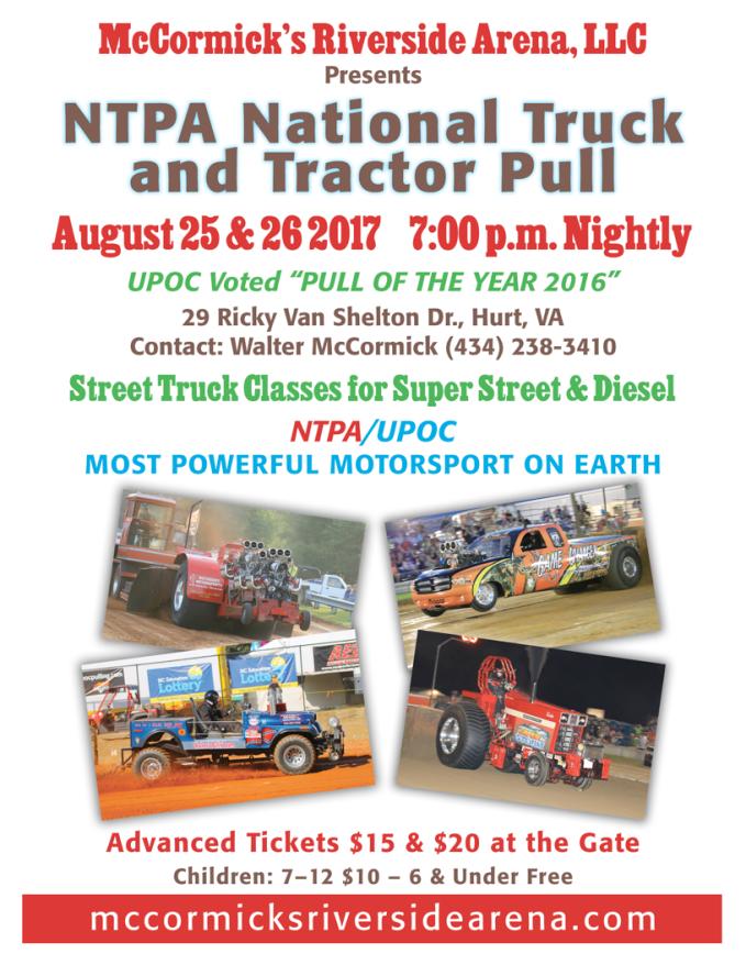 truck & tractor pull flier 2017